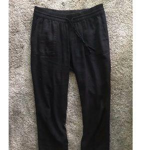 3/4-length Faux Linen Pants